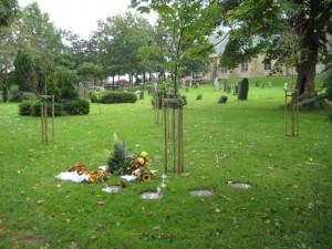 Urnengrabstätte unter Bäumen